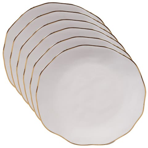 Certified International Elegance Canape Plates, Set of 6