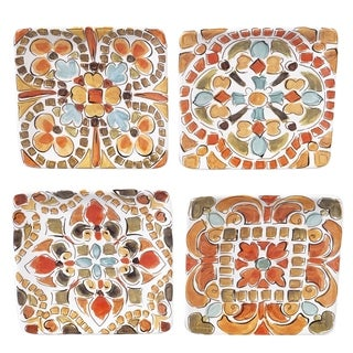 Certified International Tuscan Breeze Canape Plates, Set of 4