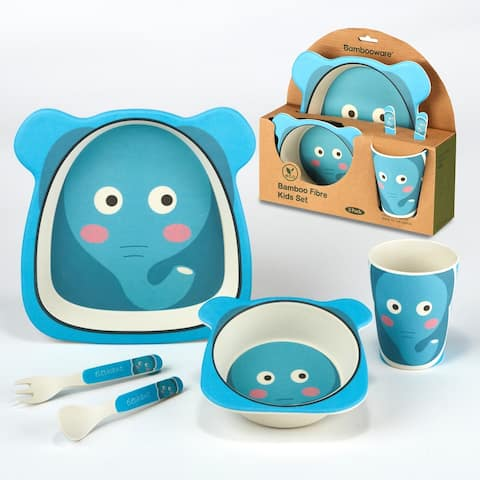 Certified International Elephant 5-piece Children's Dinnerware Set