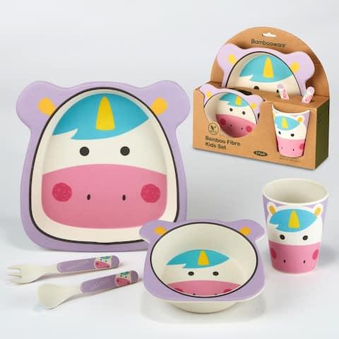 Certified International Unicorn 5-piece Children's Dinnerware Set
