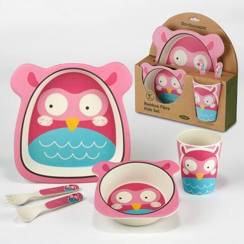 Certified International Owl 5-piece Children's Dinnerware Set
