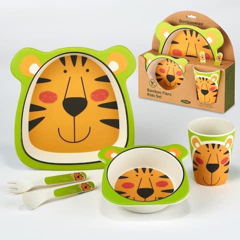 Certified International Tiger 5-piece Children's Dinnerware Set