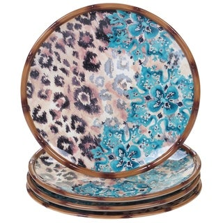 Certified International Exotic Jungle Dinner Plates, Set of 4