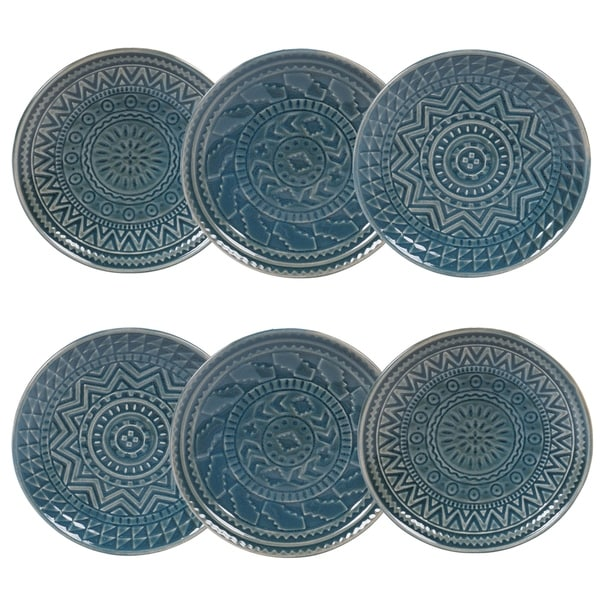 Certified International Aztec Canape Plates, Set of 6