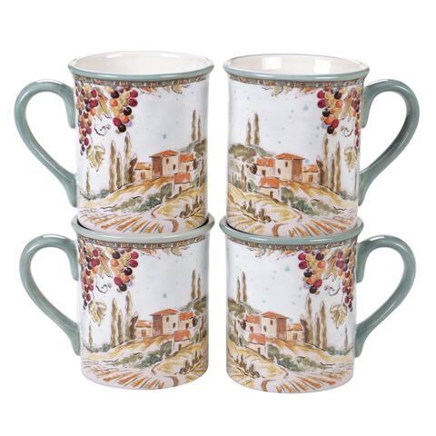 Certified International Tuscan Breeze Mugs, Set of 4
