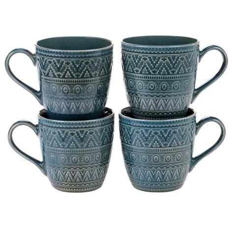 Certified International Aztec Mugs, Set of 4