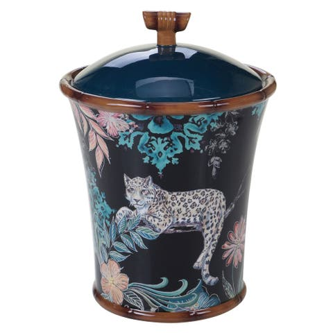 The Curated Nomad Exotic Jungle Biscuit Jar