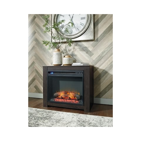 Harlinton Contemporary Fireplace Mantel w/FRPL Insert Two-tone