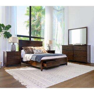 Copper Grove Dornbirn 5-piece Distressed Wood Bedroom Set