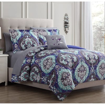Modern Threads Cathedral 8-Piece Printed Reversible Bed in A Bag