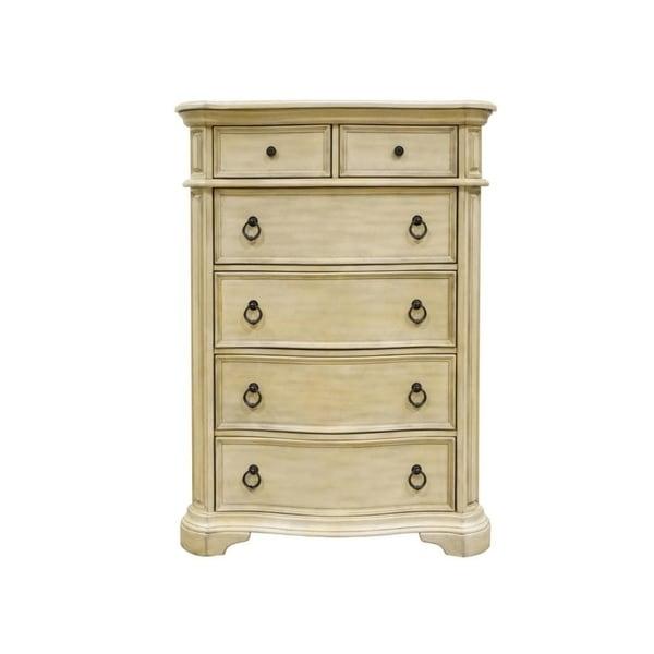 Best Master Furniture Antique Beige 6 Drawer Chest