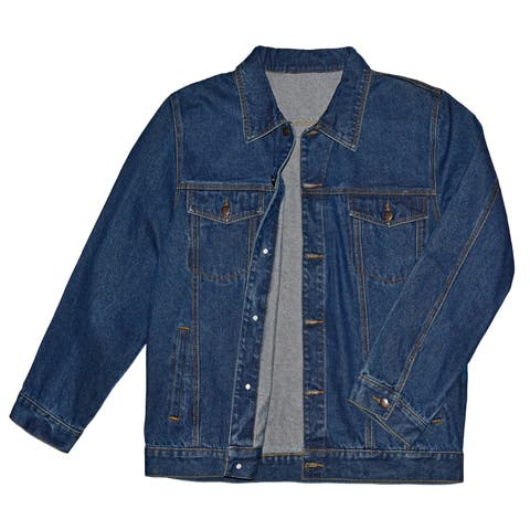 Victory Outfitters Men's Unlined Button Up Denim Jacket