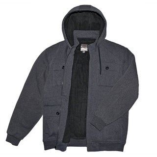 Victory Outfitters Men's Multi Pocket Fleece Midweight Zip Up Hoodie