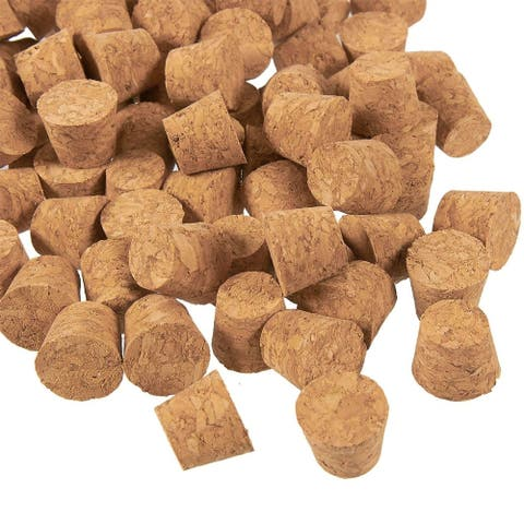 100x Small Mini Cork Stoppers, Tapered Cork Bottle Plugs, Size 4, 16mm Diameter