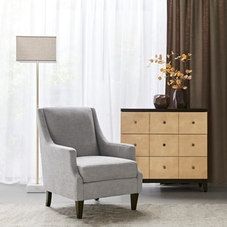 Link to Martha Stewart Finley Light Grey Accent Chair Similar Items in Living Room Chairs
