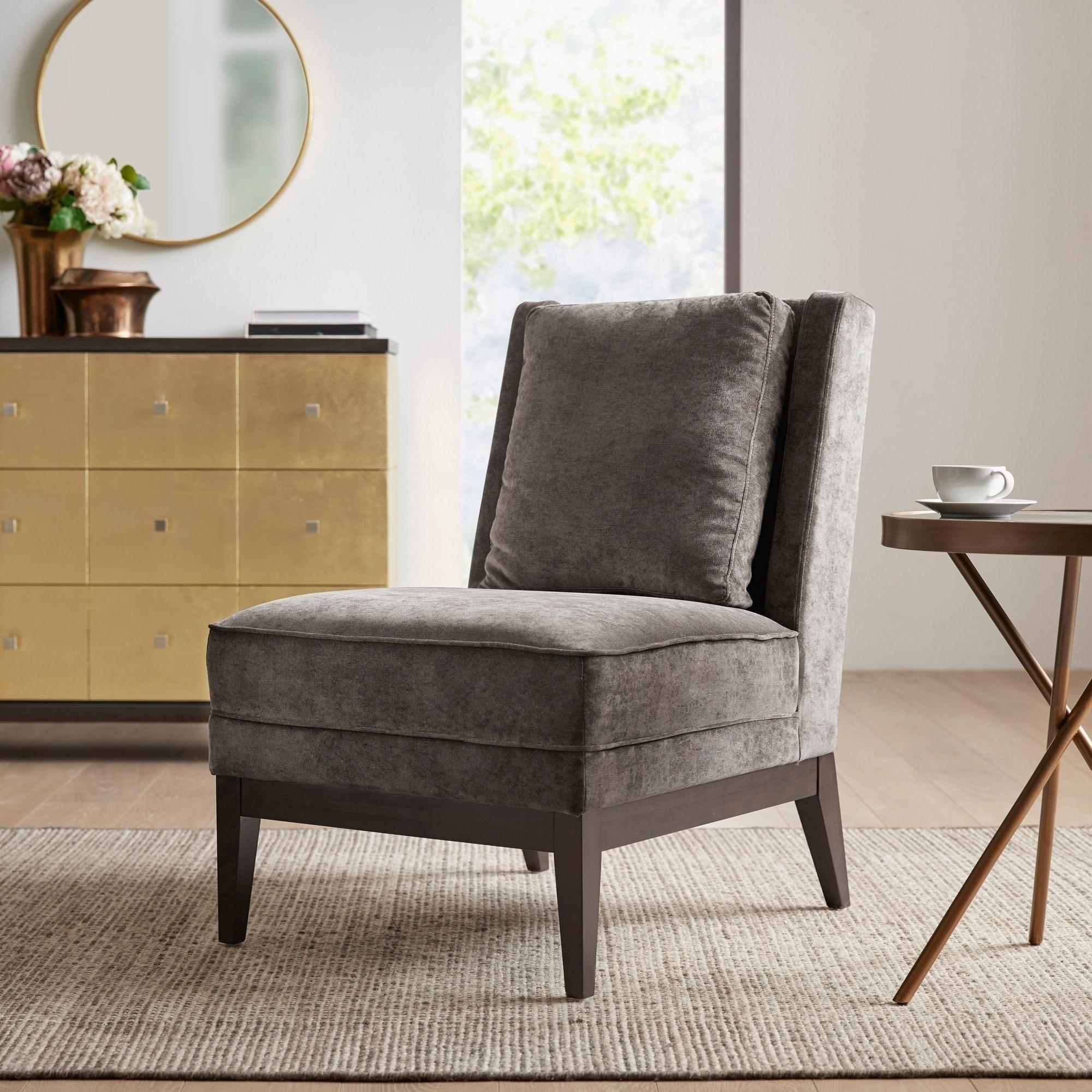 Martha Stewart Elise Brown Armless Accent Chair