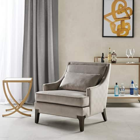 Martha Stewart Anna Light Grey Arm Accent Chair
