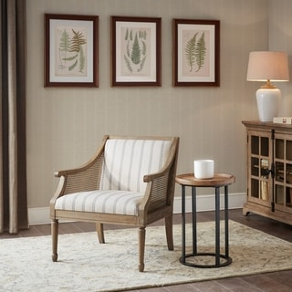 Link to Martha Stewart Isla Beige Accent Armchair Similar Items in Living Room Chairs