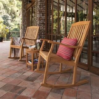 Cambridge Casual Sherwood 3-piece Teak Rocking Chair Set