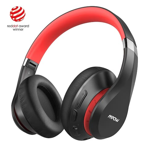 Mpow H20 Bluetooth Headphones Bluetooth 5.0 HiFi Deep Bass Wieless Headphones Over Ear Memory Protein Earpadswith Mic