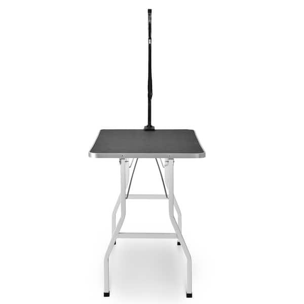 Merax Adjustable Arm Rubber Mat Pet Grooming Table Overstock 29103843