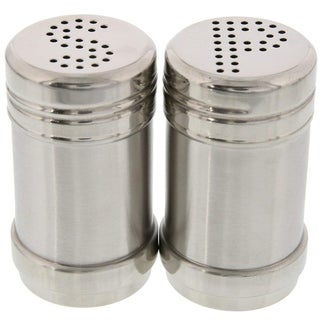 Link to Modern Design BPA Free Salt and Pepper Shakers Stainless Steel Glass Set, 3.5oz Similar Items in Serveware