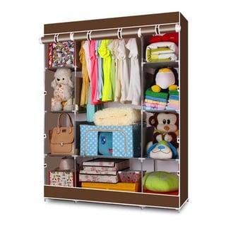 Non-Woven Fabric Portable Clothes Closet Wardrobe Storage Organizer - N/A