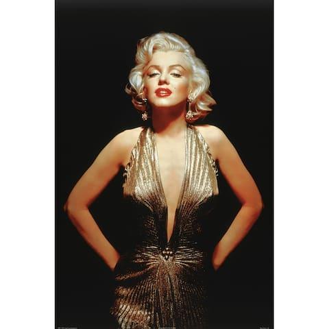 CANVAS Marilyn Monroe Gold Dress Photographic Print
