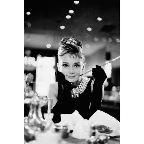 CANVAS Breakfast at Tiffany's Audrey Hepburn Photographic Reproduction