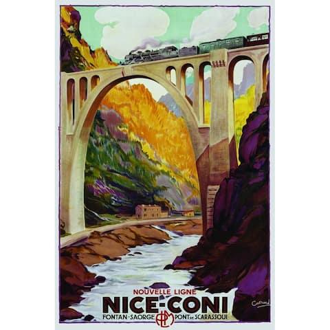 CANVAS Nice-Coni Railway Travel Vintage Advertisement