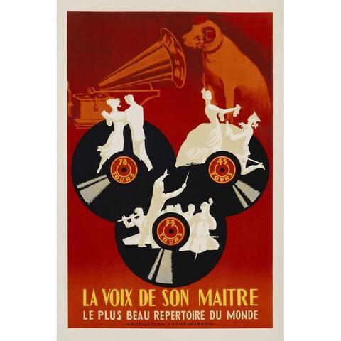 CANVAS La Voix de Son Maitre Musice Vintage Advertisement