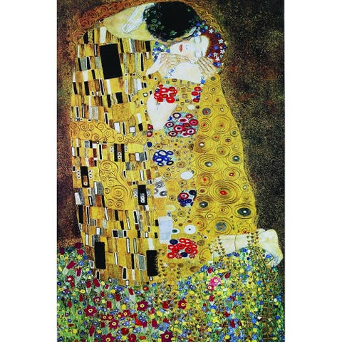 CANVAS The Kiss by Gustav Klimt Art Art Painting Reproduction