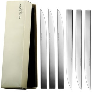 Georg Jensen Jean Nouvel Stainless Steel Dinner Knife Set 6 Pieces