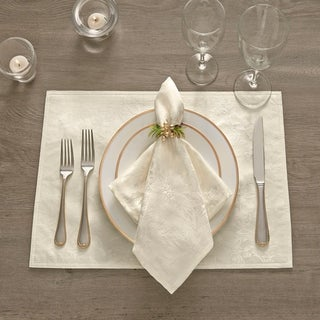 Link to Poinsettia Elegance Jacquard Holiday Placemat - 13x19 Similar Items in Table Linens & Decor