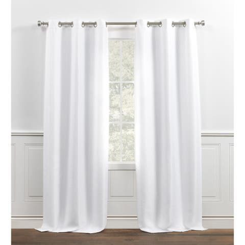 Chaps Home Melody Solid Textured Grommet Top Curtain Panels