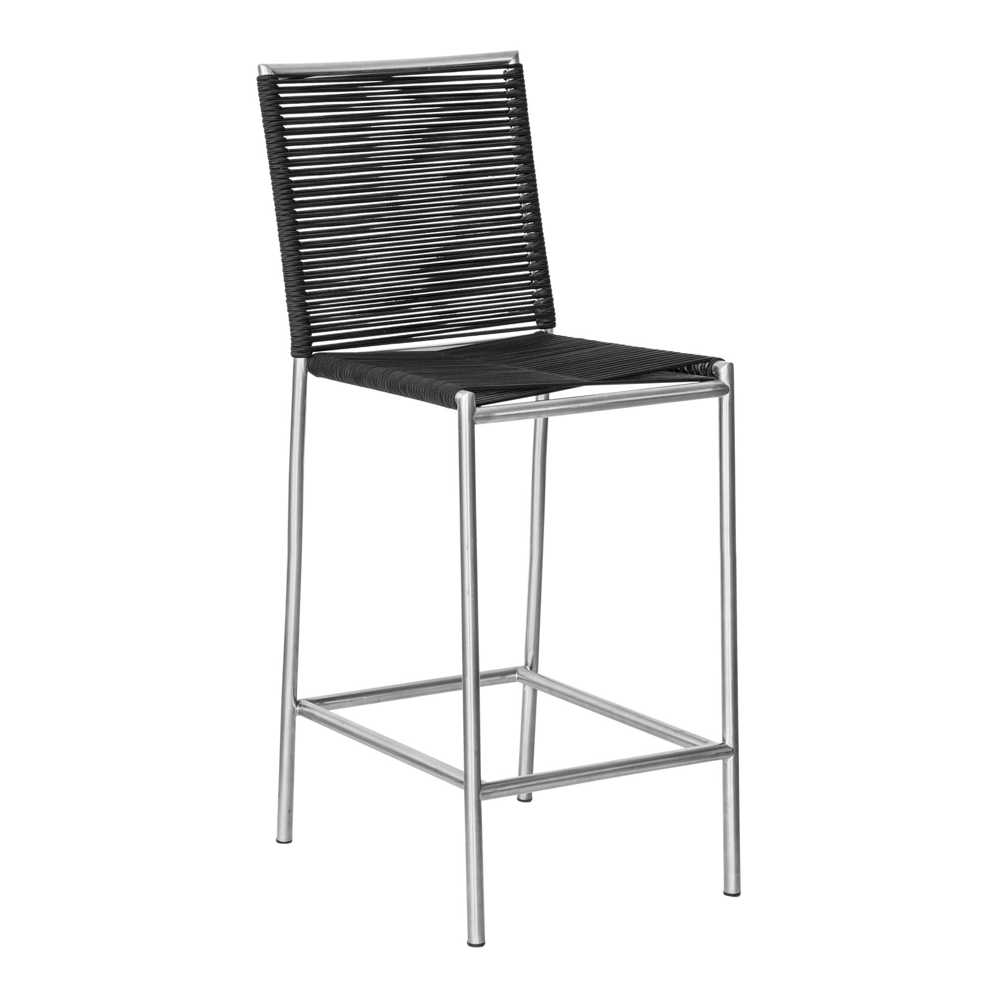 Stupendous Aurelle Home Grey Rope Seating Modern Outdoor Barstool Andrewgaddart Wooden Chair Designs For Living Room Andrewgaddartcom