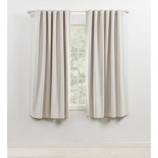 "Link to Lauren Ralph Lauren Sallie Blackout Back Tab/Rod Pocket Curtain Panel in Dove Grey - 96""- (As Is Item) Similar Items in As Is"