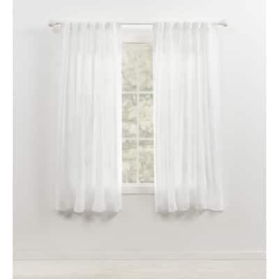 Lauren Ralph Lauren Engel Sheer Back Tab/Rod Pocket Curtain Panel