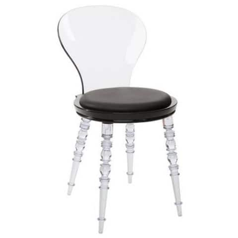 Acrylic Clear Solid Back Dining Chair