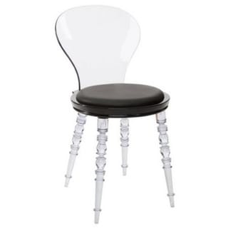 Link to Acrylic Clear Solid Back Dining Chair Similar Items in Dining Room & Bar Furniture