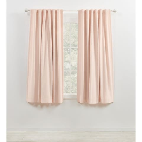 Lauren Ralph Lauren Velvety Back Tab/Rod Pocket Curtain Panel