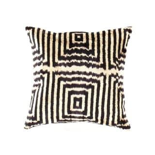 TI15 Turkish White / Black Silk Ikat pillow