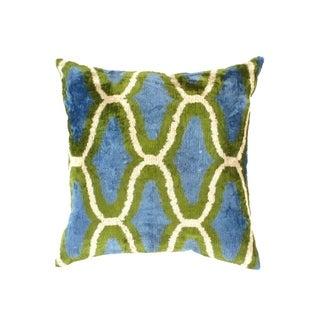 TI 48 Turkish L Blue Silk Ikat pillow