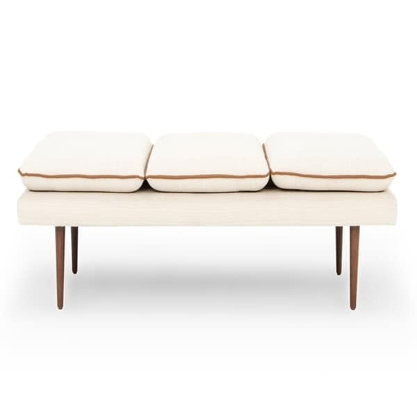 """Kardiel Mid-Century Skiff 77"""" Fabric Daybed - Width 77.2"""" x Depth 29.9"""" x Height 17.3"""". Opens flyout."""