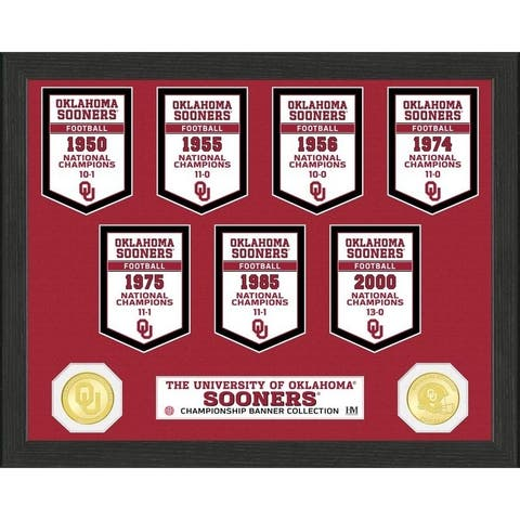 University of Oklahoma National Champions Banner Collection Photo Mint - 12X15