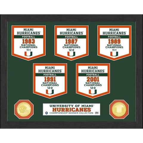 University of Miami National Champions Banner Collection Photo Mint - 12X15