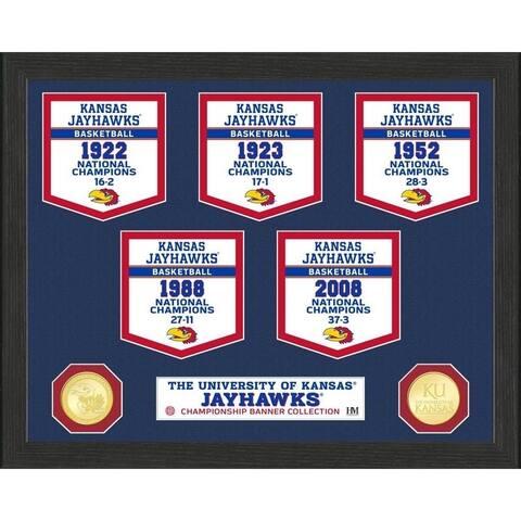 University of Kansas Basketball National Champions Banner Collection Photo Mint - 12X15
