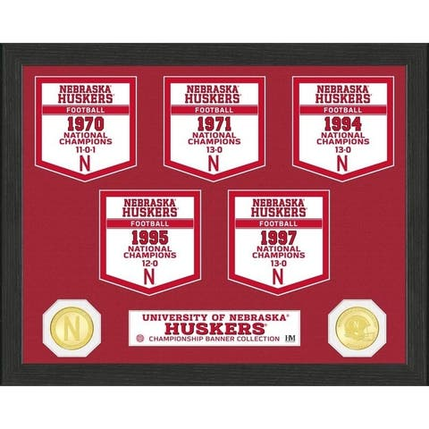 University of Nebraska National Champions Banner Collection Photo Mint - 12X15