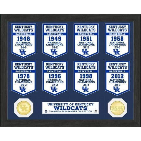 University of Kentucky Basketball National Champions Banner Collection Photo Mint - 12X15