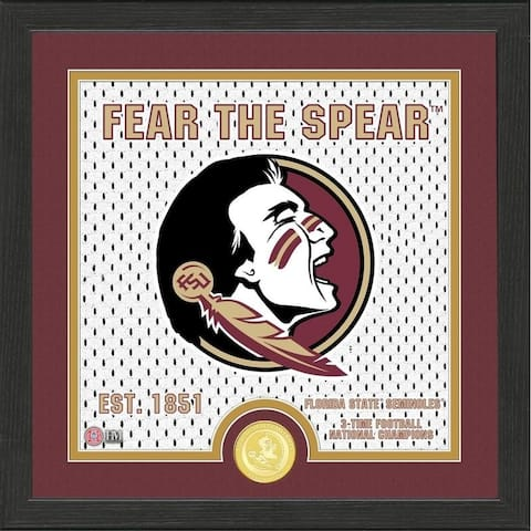 Florida State University Battle Cry Bronze Coin Photo Mint - 13X13